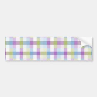 Abstract Digital Plaid Bumper Sticker