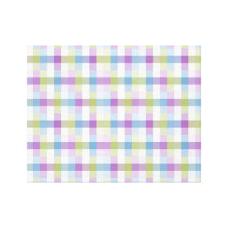 Abstract Digital Plaid Gallery Wrap Canvas