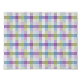 Abstract Digital Plaid Poster
