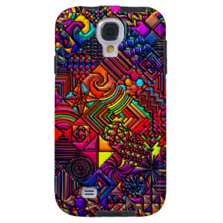 Abstract Digital Quilt Galaxy S4 Case