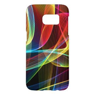 Abstract Digital Rainbow Ribbons Samsung Galaxy S7 Case