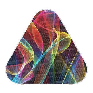 Abstract Digital Rainbows Pattern Speaker
