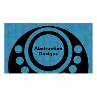 Abstract Dimensions Business Card, Bold Blue Business Card