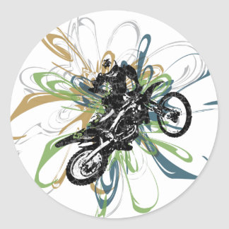 Abstract Dirt Bike Stickers