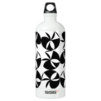 Abstract Disc Aluminum Water Bottle