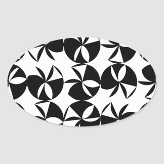 Abstract Disc Oval Sticker