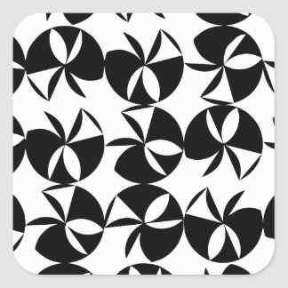 Abstract Disc Square Sticker