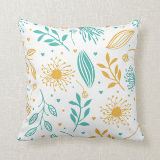 Abstract Ditsy Floral Background | Throw Pillow