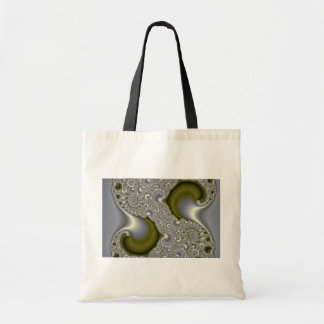Abstract Divided gold tidal wave Canvas Bag