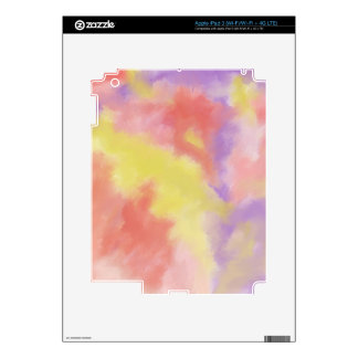 abstract Divine Pastel yellow purple iPad 3 Skin
