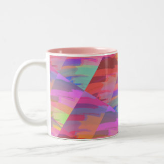 Abstract Do It Yourself Two-Tone Coffee Mug