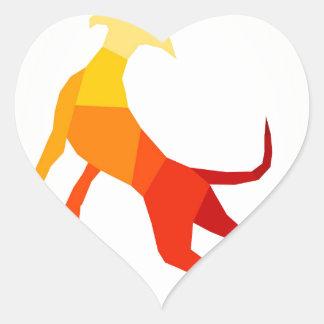 Abstract dog.jpg heart sticker