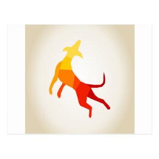 Abstract dog.jpg postcard