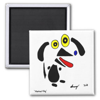 Abstract Dog Magnet