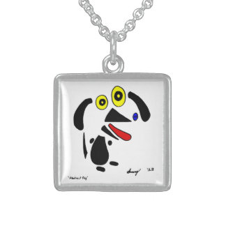Abstract Dog Necklace