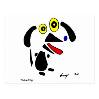 Abstract Dog Postcard