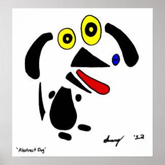 Abstract Dog Print