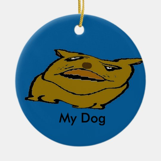 Abstract Dogs bcd,  My Dog Ceramic Ornament