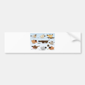 Abstract dogs icons design car bumper sticker