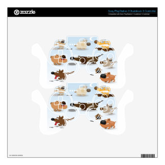 Abstract dogs icons design skin for PS3 controller
