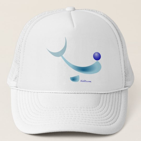 Abstract Dolphin Character Trucker Hat