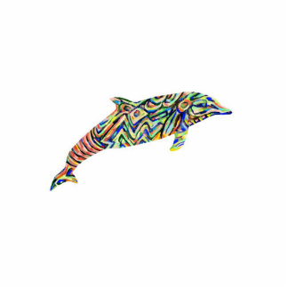 Abstract Dolphin Cutout Magnet/key/ornament