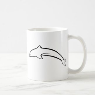 Abstract Dolphin Design Coffee Mugs