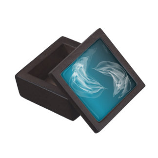 Abstract Dolphins at Play Premium Jewelry Box