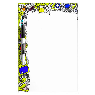 abstract doodle Border Dry-Erase Board