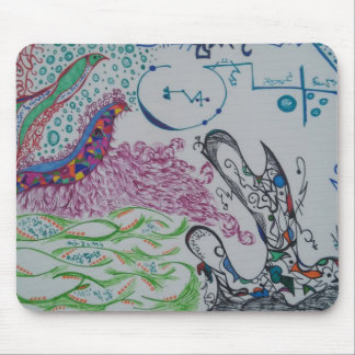 Abstract Doodle Mouse pad