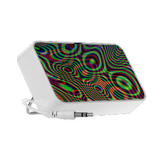 Abstract Doodle Portable Speaker cord included