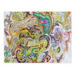 Abstract Doodle Post Cards