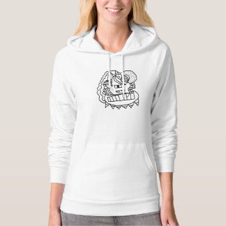 Abstract Doodle Pullover Hoodie