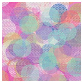 Abstract Dots And Zigzag Stripes Pattern Fabric