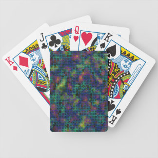 Abstract Dots Multicolor purple yellow splotches Bicycle Playing Cards