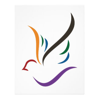Abstract Dove Letterhead