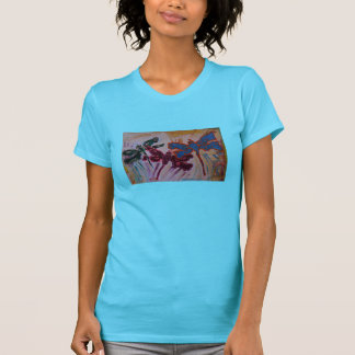 abstract dragonflies womens tee shirt gifts