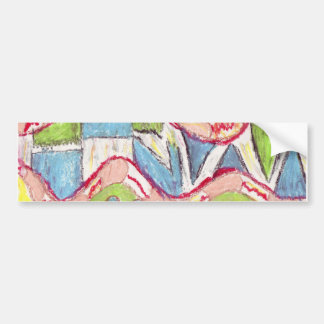 Abstract drawing 1 car bumper sticker