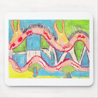 Abstract drawing 1 mouse pad
