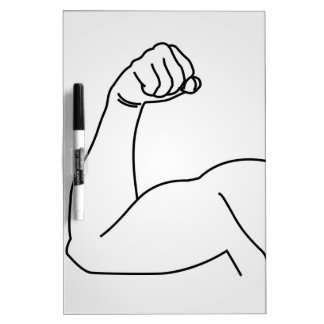 Abstract drawing of a man's arm flex dry erase board