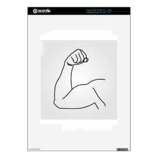 Abstract drawing of a man's arm flex skin for the iPad 2