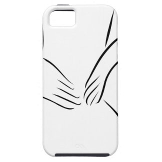 Abstract drawing of a person having backache iPhone SE/5/5s case