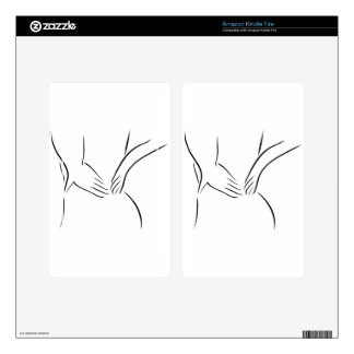 Abstract drawing of a person having backache skins for kindle fire