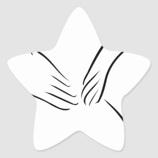Abstract drawing of a person having backache star sticker