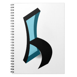 Abstract drawing of Chair Spiral Note Books