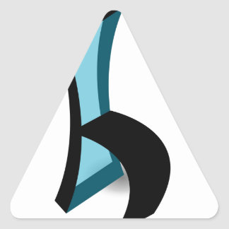 Abstract drawing of Chair Triangle Sticker