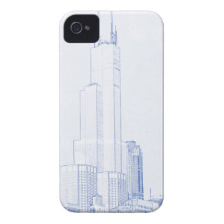 Abstract Drawing of Chicago No1 iPhone 4 Case-Mate Case