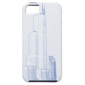 Abstract Drawing of Chicago No1 iPhone SE/5/5s Case