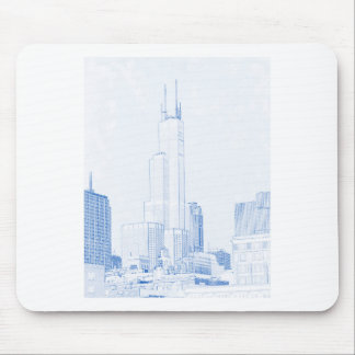Abstract Drawing of Chicago No1 Mouse Pad