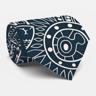 Abstract Drawing Of Fishes Tie